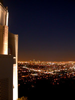 178.  Griffith Observatory View of Downtown Los Angeles in Evening
